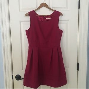 anthropologie tulle brand magenta dress-EUC!